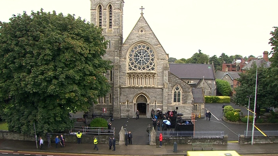 The mass was held at the Sacred Heart Church in Donnybrook