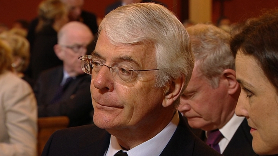 Former British prime minister John Major, who signed the Downing Street Declaration with Mr Reynolds in 1993