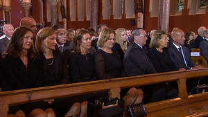 Reynolds family members at the service in Donnybrook in Dublin