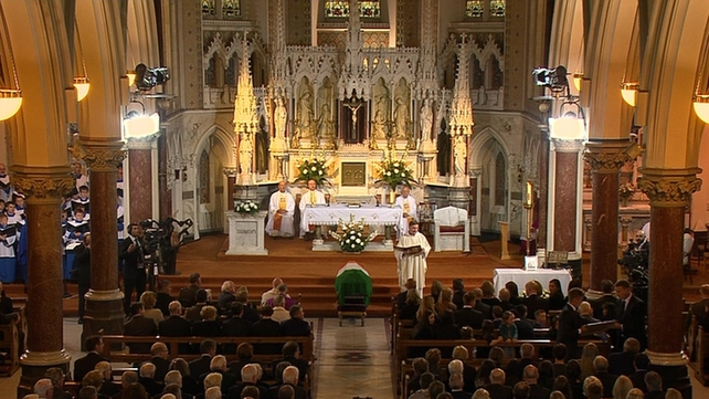 Dignitaries were among those attending the funeral in Dublin