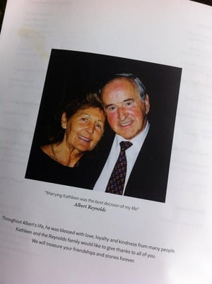 Albert and Kathleen Reynolds on the mass booklet