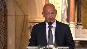 The former Taoiseach's son Philip gave the eulogy