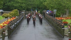 The funeral cortège arrives at Shanganagh Cemetery