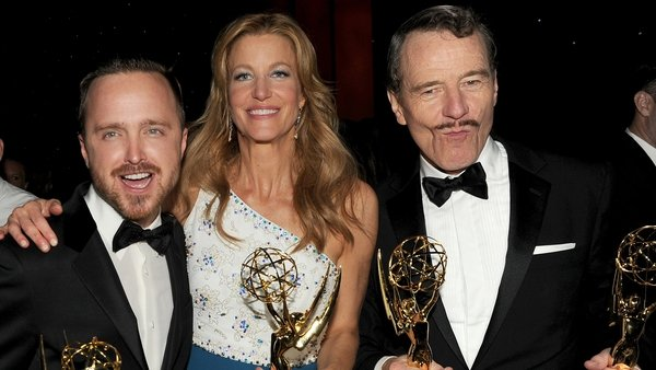 Aaron Paul, Anna Gunn and Bryan Cranston - Honoured yet again with acting awards for their work on Breaking Bad