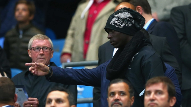 Mario Balotelli seen in the crowd during Liverpool's Premier League clash with Manchester City