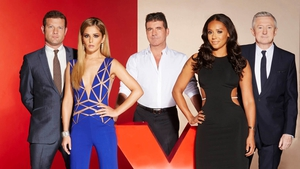 Host Dermot O'Leary and the X Factor judges