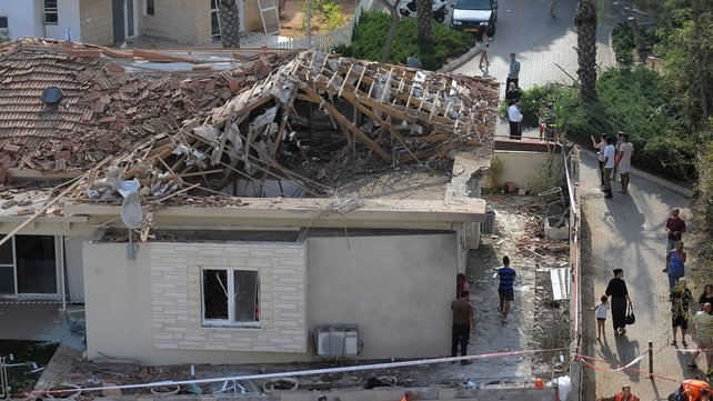 A rocket launched from Gaza hit a house in the Israeli coastal city of Ashkelon