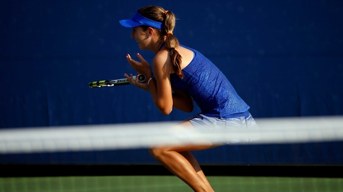 Cici Bellis lets her emotions show following her giant-killing victory