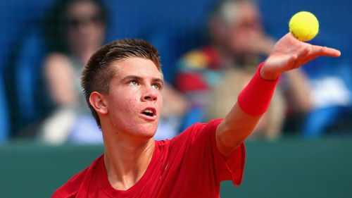 Borna Coric swept aside Lukas Rosol in straight sets