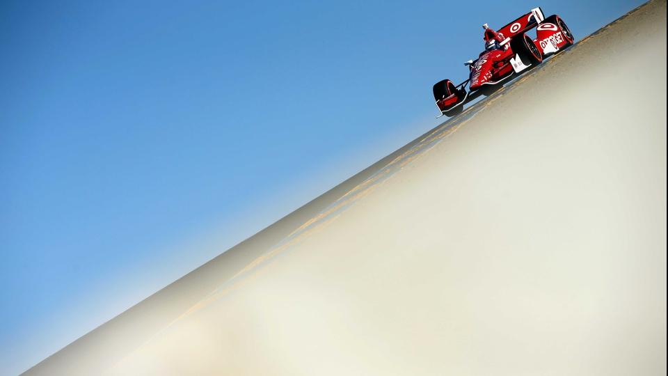 Scott Dixon during qualifying for the Verizon IndyCar Series GoPro Grand Prix of Sonoma, California