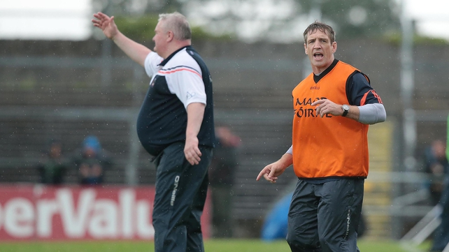 Kieran McGeeney (R) was a selector with Paul Grimley at Armagh this summer