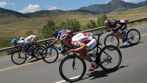 Riders in action at the 2014 USA Pro Cycling Challenge from Boulder to Denver, Colorado