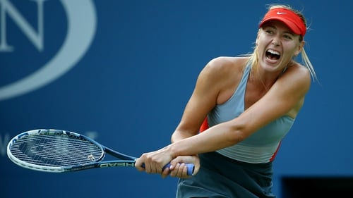 Maria Sharapova battled back from a set down to make it into the third round