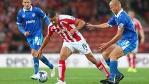 Ireland international Jon Walters scored twice in Stoke's win over Portsmouth