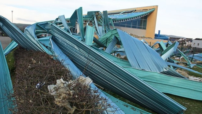 New Ross Swimming Pool suffered major damage (Pic: Paddy Delaney)