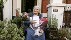Doris Lessing at her North London Home after she won the Nobel Prize in October 2007.