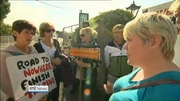 One News: Protest at Kilkenny bridge cleared