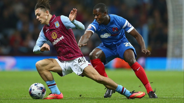 Jack Grealish in action against Hull