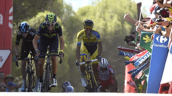 Alejandro Valverde prevails after a punishing finish in La Zubia