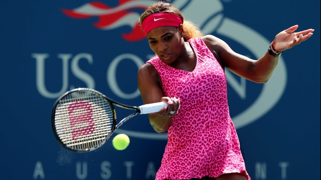 Serena Williams fired 25 winners in her drubbing of Vania King