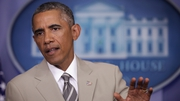 President Obama made the unscheduled statement in the briefing room