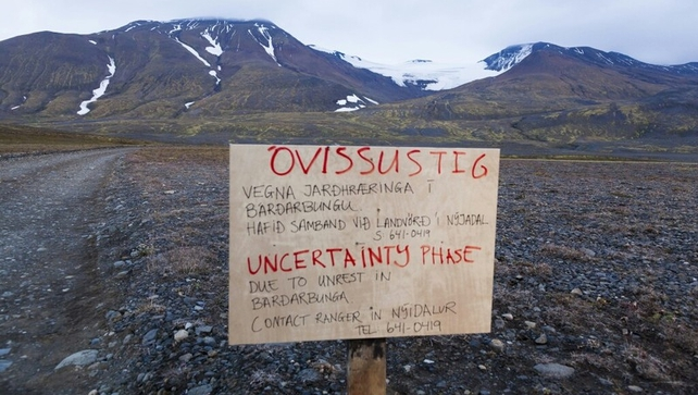 The eruption in the Holuhraun area prompted the Icelandic Met Office to raise the warning code to red