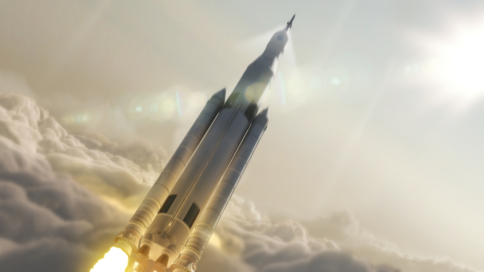 Picture made available by NASA showing an artist concept of NASA's Space Launch System
