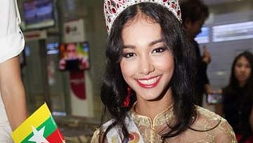 Myanmar beauty queen May Myat Noe, winner of Miss Asia Pacific World 2014 pageant
