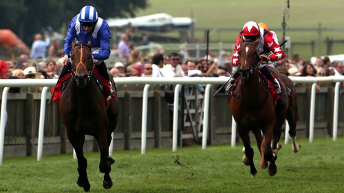 Aktabantay chased home Estidhkaar  in the Superlative Stakes at Newmarket last month