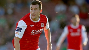 St Patrick's Athletic striker Aaron Greene grabbed both of the Saints' goals at Jackman Park
