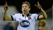 Dundalk's David McMillen celebrates after scoring his side's second goal