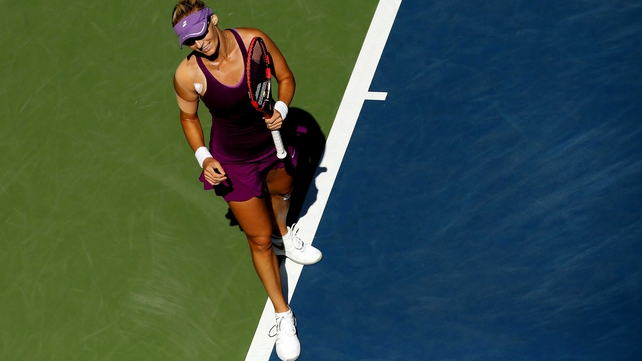 Mirjana Lucic-Baroni caused a major surprise on a day of upsets at Flushing Meadows