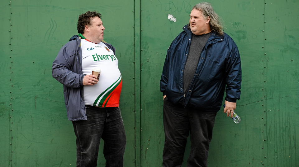 Brothers Philip and David Lynan from Mayo get ready for the battle with Kerry
