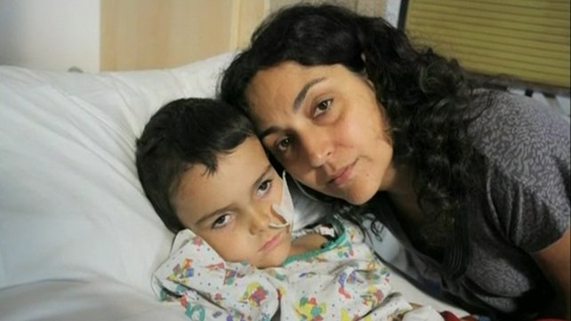 Naghemeh King pictured with Ashya who has a brain tumour