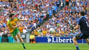 Donegal's Ryan McHugh scores a goal against Dublin in the All-Ireland semi-final