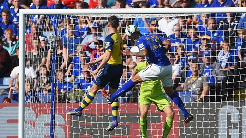 Leicester's record-signing Leonardo Ulloa pounces to draw his side level