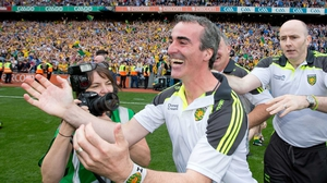 Jim McGuinness celebrated a famous win at the final whistle