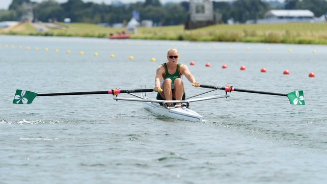 Old Collegians rower Sanita Puspure  was just over a second off securing a medal in Amsterdam