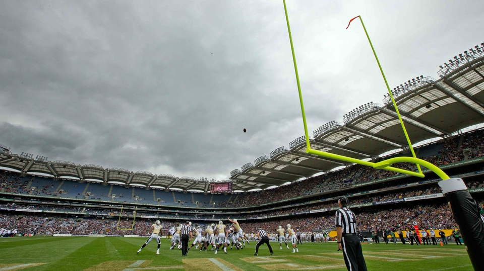 Penn State and University of Central Florida met in Croke Park in an American football game