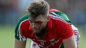 Aidan O'Shea took a nasty knock to the head from team-mate Cillian O'Connor