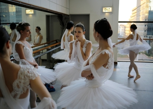 Ballerinas from the Joburg Ballet rehearse for their upcoming show 'La Bayadere' in downtown Johannesburg, South Africa