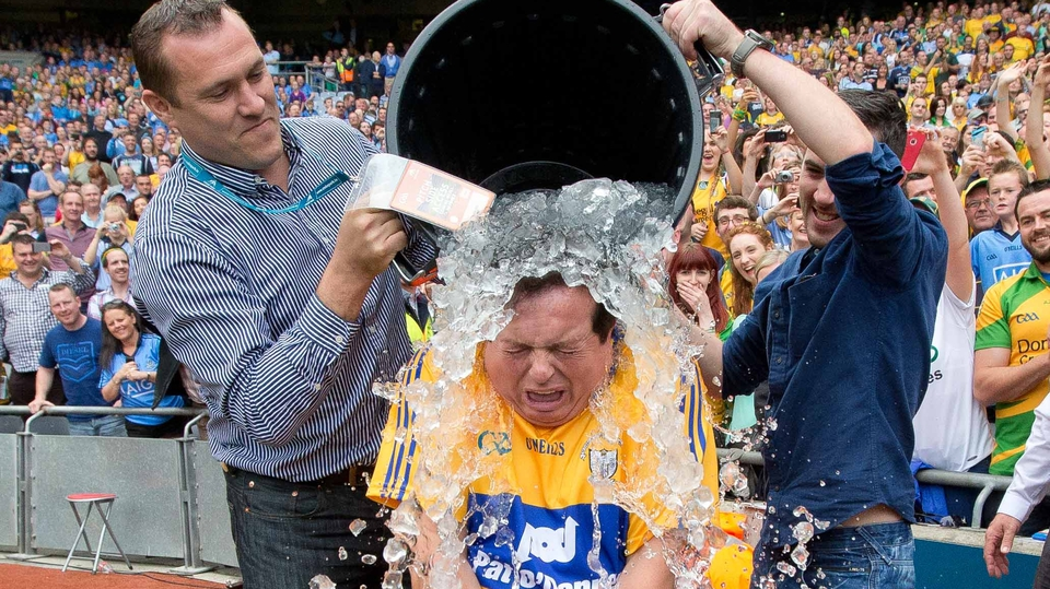 RTÉ's Gaelic games correspondent  Marty Morrissey took the ice bucket challenge in aid of the Motor Neurone Disease Association