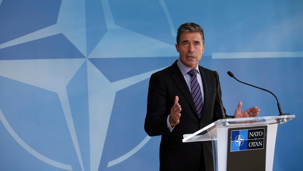 Anders Fogh Rasmussen said the Ukrainian parliament was expected to abandon the country's non-aligned status