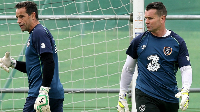 Shay Given returns looking to add to his 125 caps, while David Forde (l) is the current number 1