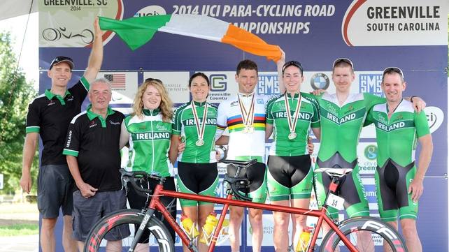 The Ireland team pictured after a successful championships in South Carolina.
