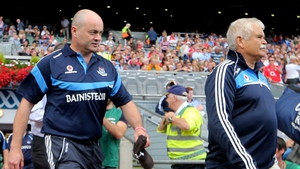 Anthony Daly and Andy Kettle on the sideline at a Dublin game