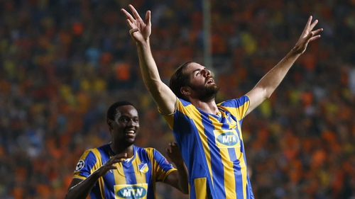 Cillian Sheridan appeared in all six of APOEL's Champions League group games