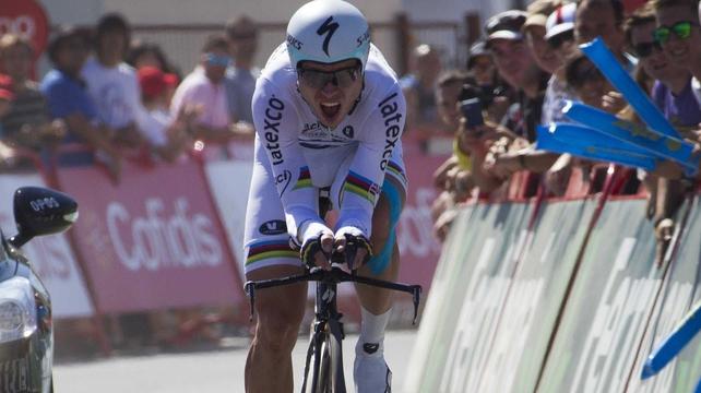 Omega Pharma's German cyclist Toni Martin won the stage