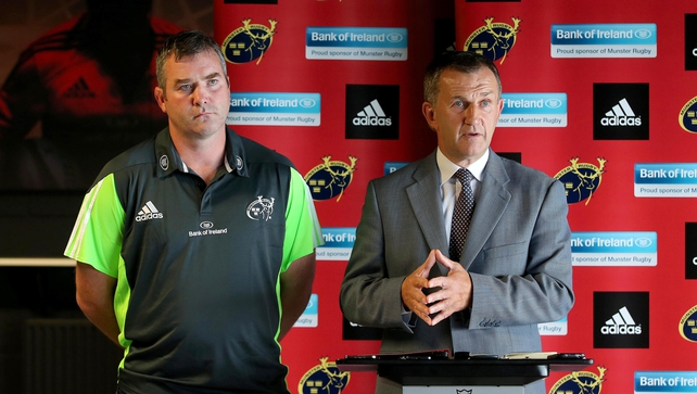 Anthony Foley and Garrett Fitzgerald at the press conference