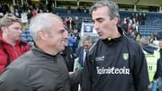 Paul McGinley with the man who plotted Dublin's downfall on Sunday,  Donegal boss Jim McGuinness